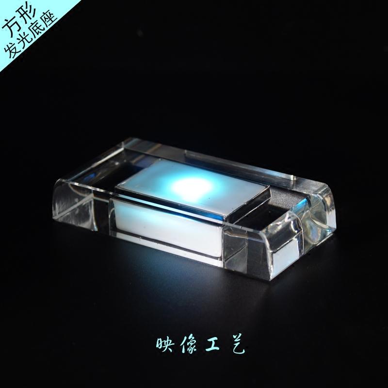 K9 кристалл LED перезаряжаемые красочный свет база куб яблоко печать резьба эмбрион монтаж пресс тип продукт
