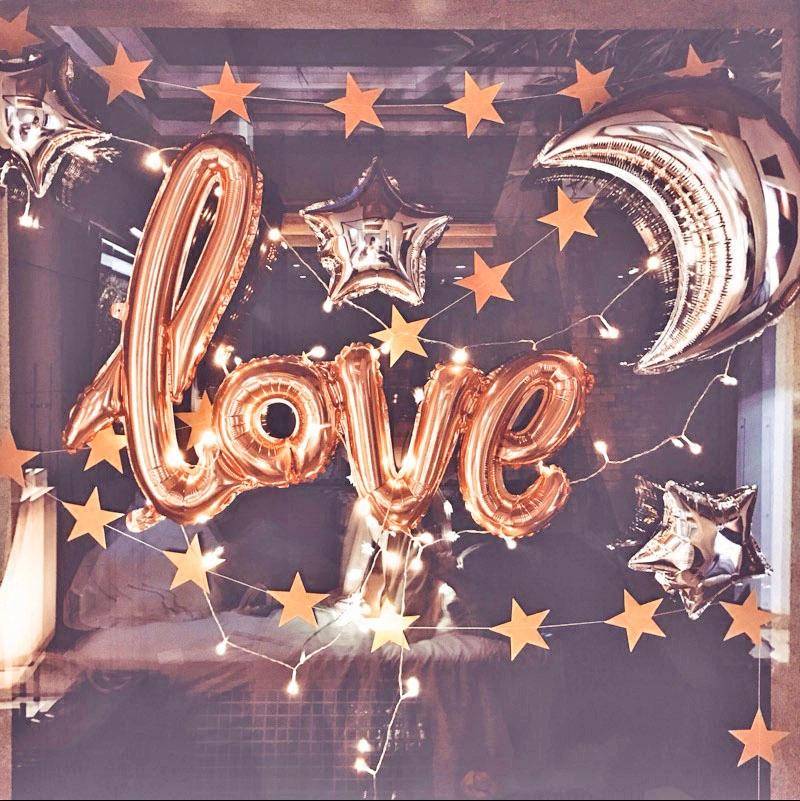 12-01新券婚礼结婚love字母婚房装饰套餐气球