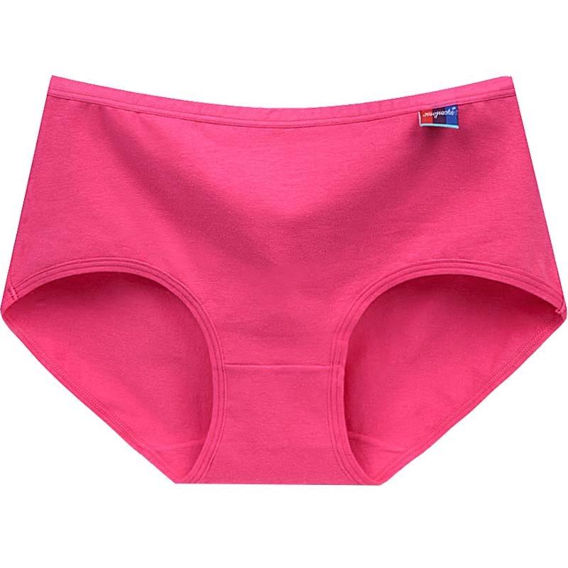 【四条装】纯棉中腰透气女式内裤