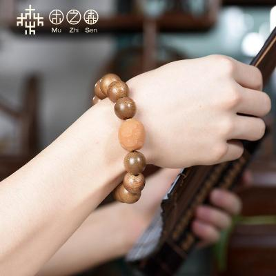 wood of the Indonesian dara dry natural alcoholize old material fidelity aloes hand string of 16 mm bead bracelet with sweet milk