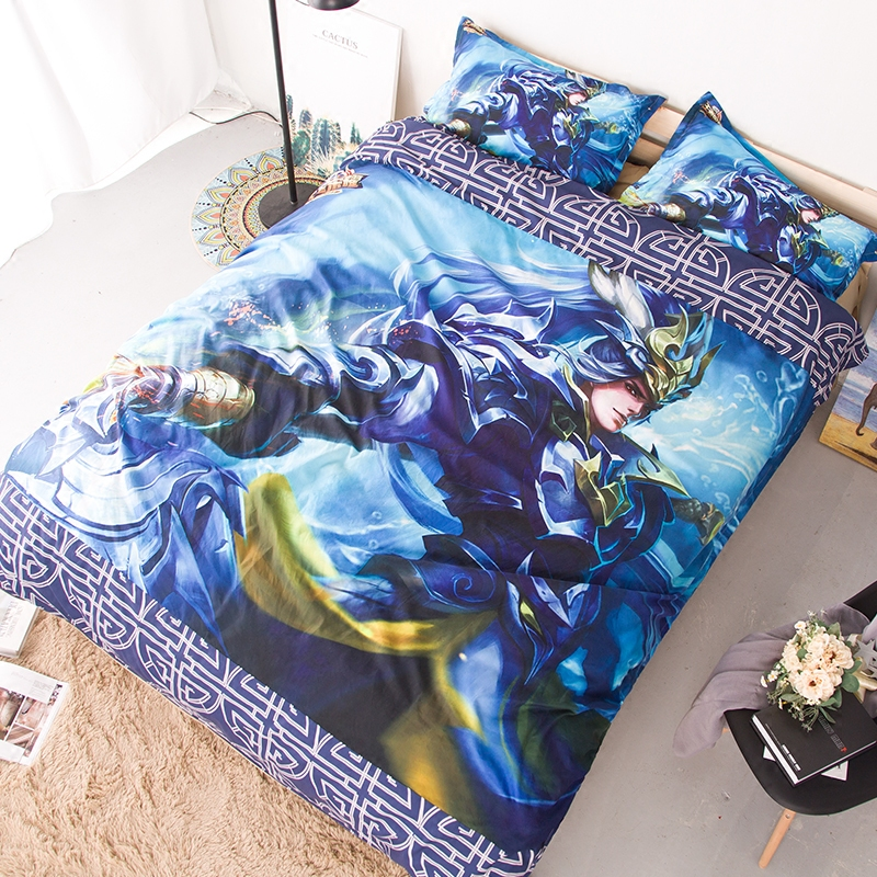 Four piece sheet quilt cover childrens two dimensional cartoon student dormitory