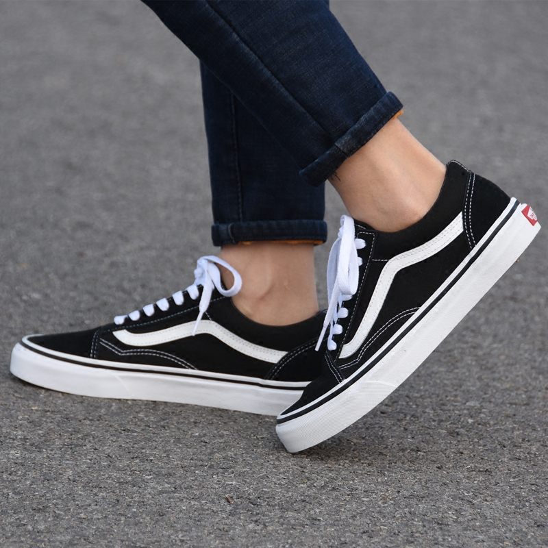 VANS OLD SKOOL低帮黑白经典款男女休闲鞋帆布鞋滑板鞋VN0D3HY28
