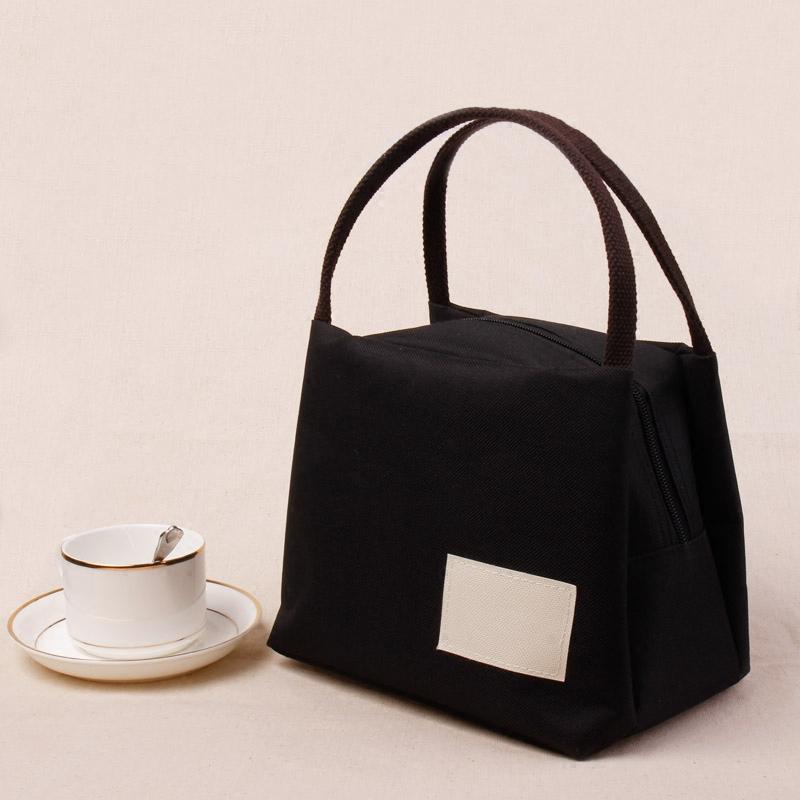 日本帆布手提包便当包保温饭盒袋牛津布妈咪饭盒包手提袋韩版防水