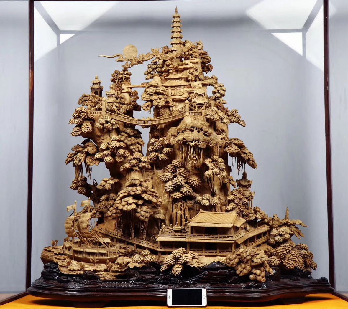 印尼沉香木雕山水花鸟佛像摆件全手工雕刻家居客厅风水根雕工艺品
