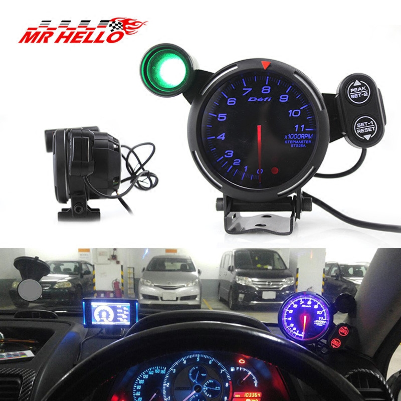 汽车转速表改装通用指针式12V仪表带报警换挡提示defi赛车专用