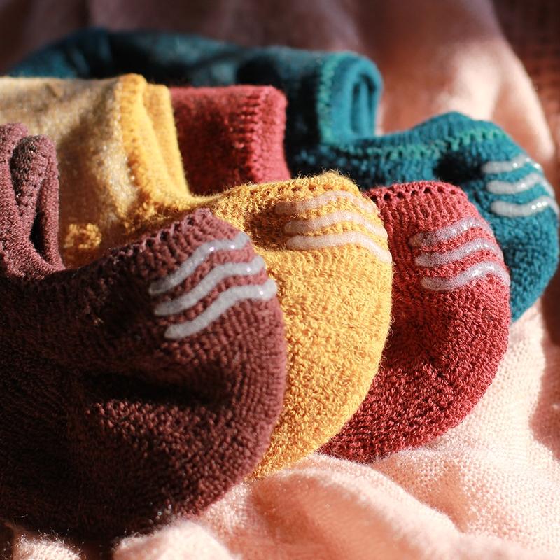 男士加绒加厚船袜纯棉冬季硅胶防滑毛巾底运动浅口隐形袜毛圈袜子