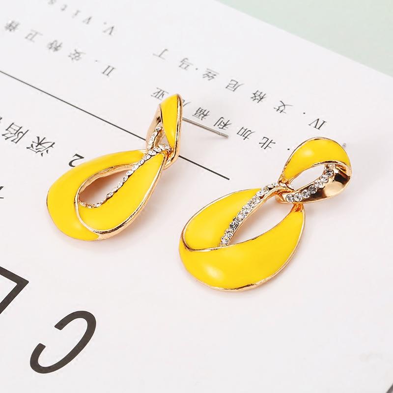 复古奢华耳饰时尚几何个性大耳钉夸张耳环耳夹原创设计