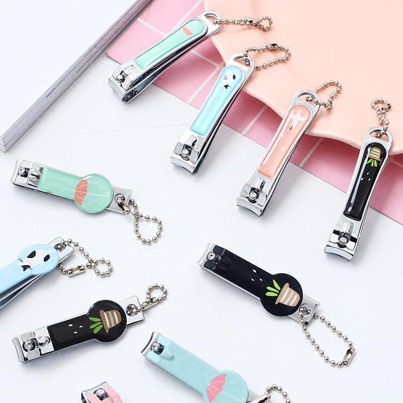 韩国可爱卡通不锈钢指甲刀创意指甲剪单个装美甲去死皮指甲钳工具