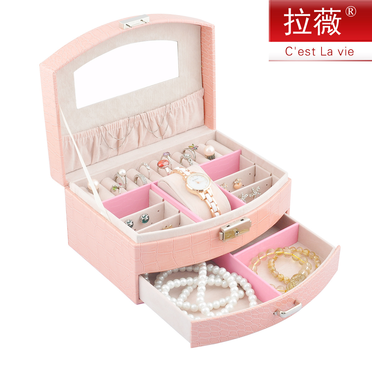 �n��首�盒化�y盒�凸棚�品盒�фi首�箱�W式手�盒公主珠��盒