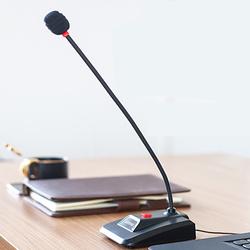 Lenovo聯想PCM103臺式電腦麥克風會議廣播專用筆記本usb有線桌面鵝頸網課演講話筒游戲主播語音直播錄音設備