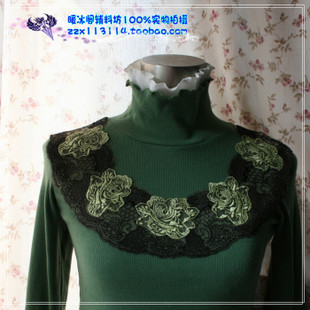 DIY stage clothing accessories rose embroidered lace collar black lace collar false collar aqueous