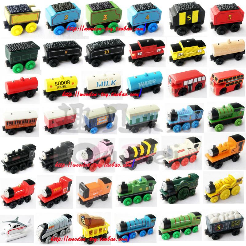 92 реальные деньги деревянный томас магнитный маленький поезд скольжение игрушка ребенок деревянный трек поезд (1-38 количество )