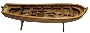 j 003 1 50 Peter the Great Russian lifeboat A kit 180mm Wooden Boat