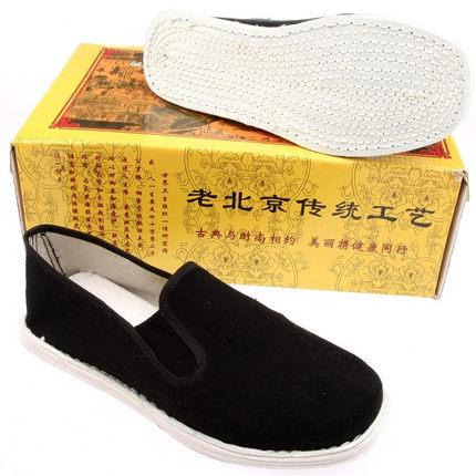 老北京布鞋 男款手工纳底布鞋 千层底布鞋 手工布鞋 工作鞋黑布鞋