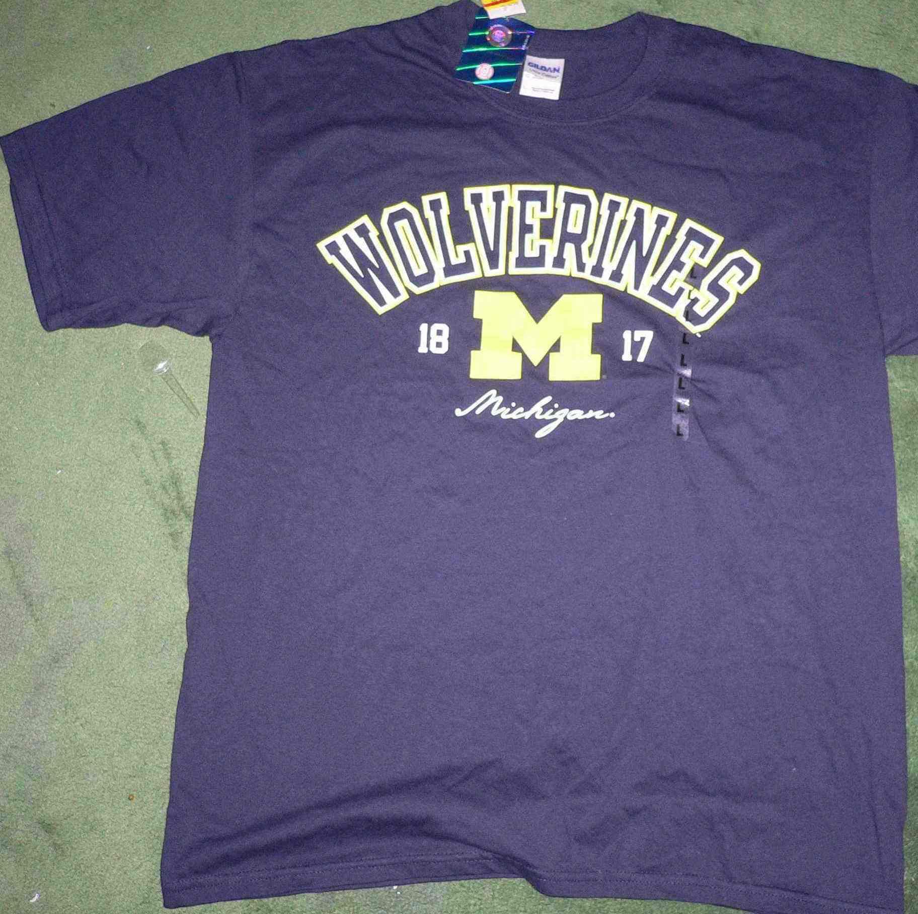 Близко отдых корень университет (Мичиган) Росомахи регби команда команда одежда L количество
