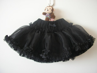 Cute girls skirts skirt veil swan princess dress tutu skirt black