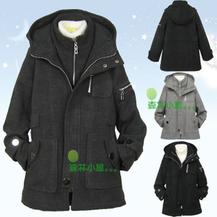 Clearance rejection boys fall and winter clothing woolen coat thick woolen coat Korean Slim coat child coat
