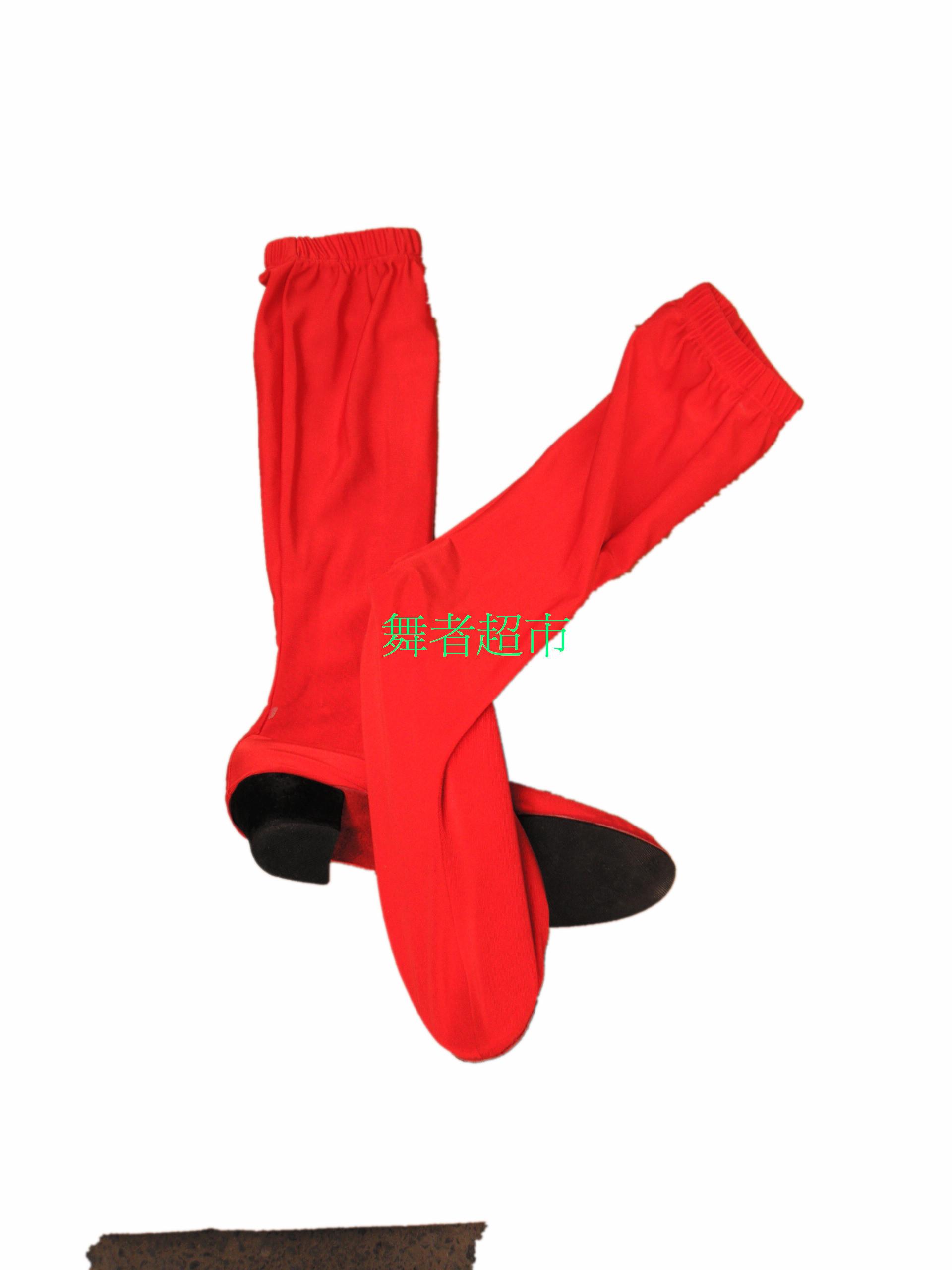 Народ танец эластичность носок ботинок весь красный производительность ботинок танец ботинок танец обувной нейлон ткань нехватка некоторых размеров товара спеццена доставка включена