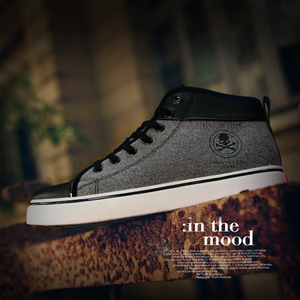 Парус Ye вентилятора обувь мужчины корейской версии линии тренда мужская обувь повседневная обувь Мужские высокие туфли белые обуви вспышки A03
