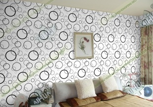 Cheap PVC self adhesive wallpaper wallpaper bedroom living room TV backdrop stickers P1322 circle