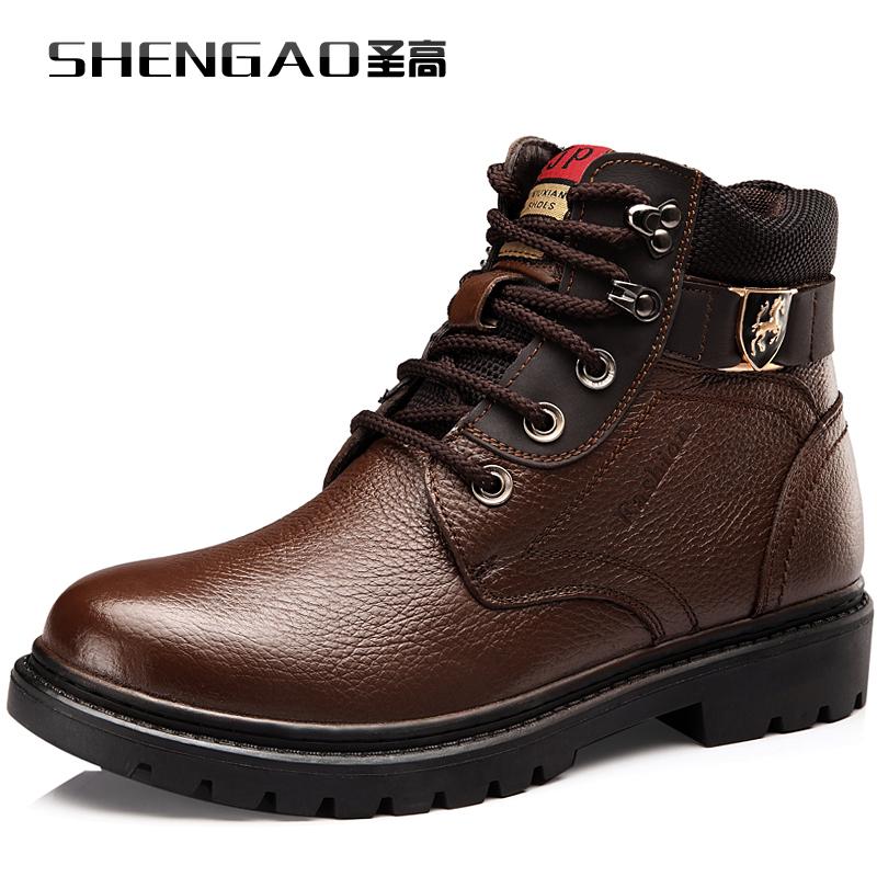 ШЭНЬ. Гао/Аль высокие мужчины обувь Новые теплая зима загрузки тенденция корейской версии кожа мужская обувь 187303