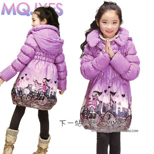 2014 new children down jacket Girls long section of female children s clothing girls big boy down jacket season coat Specials
