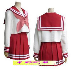 Izumi Konata Lucky class service uniforms school uniforms girls sailor suit cosplay costume Korea Institute of wind