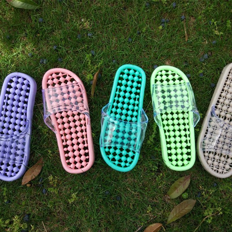 韩版镂空漏水浴室按摩拖鞋女夏季防滑洗澡平底时尚凉拖鞋托洞洞鞋券后17.40元