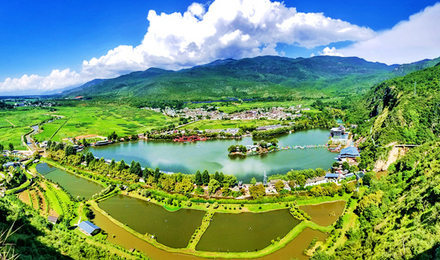 One day tour of Guanyin gorge Lijiang back garden package ticket + cruise + slide car + glass plank road + dry slide Road