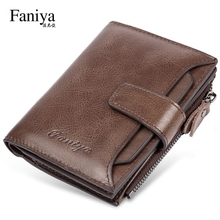 Wallet Men's Short-style Genuine Leather and Cowhide Large Capacity Vertical Driver's License Multifunctional New Men's Wallet Wallet in 2019