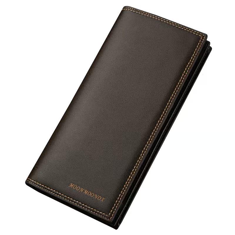男士錢包長款 簡約多卡位皮夾學生青年 日韓商務錢夾男 潮