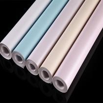 PVC墻紙純色素色加厚貼紙大學生寢室臥室宿舍壁紙家具翻新貼