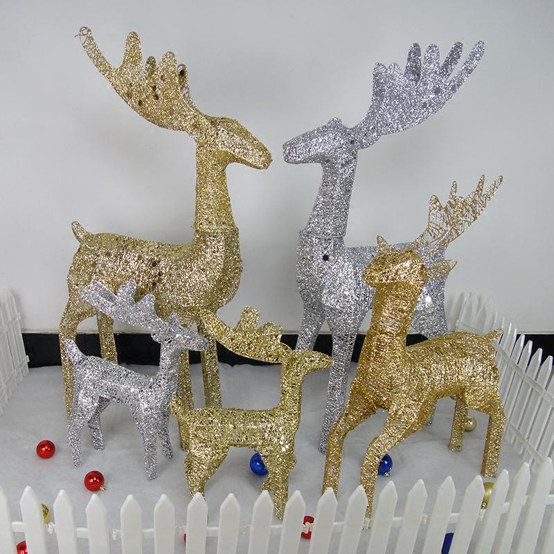 Рождество добавить светлый лист железная сетка олень рождество олень рождество сцена ткань положить моделирование лось рождество декоративный статья