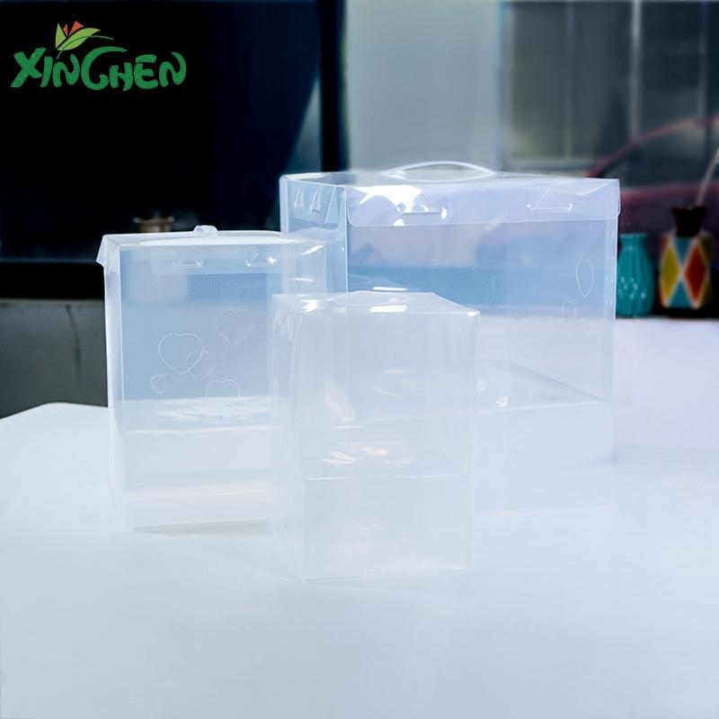 Прозрачная коробка подарка PVC новый Подарочная коробка с подарочной коробкой из мини-букета Niangpao Potted