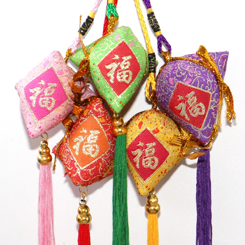 艾草粽子香包端午节粽子香囊香袋七彩福粽香包香囊粽子不带铃铛