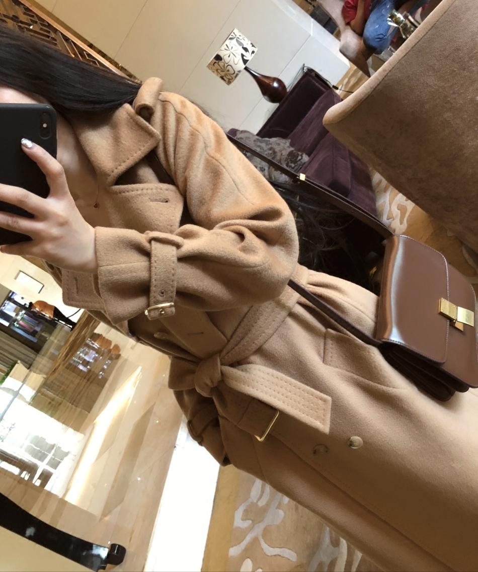 又一杰作~~2018战袍级长款水波纹羊绒大衣女毛呢呢子外套新款反季