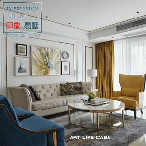 轻奢后现代沙发定制 港式实木别墅客厅沙发组合 样板间美式家具
