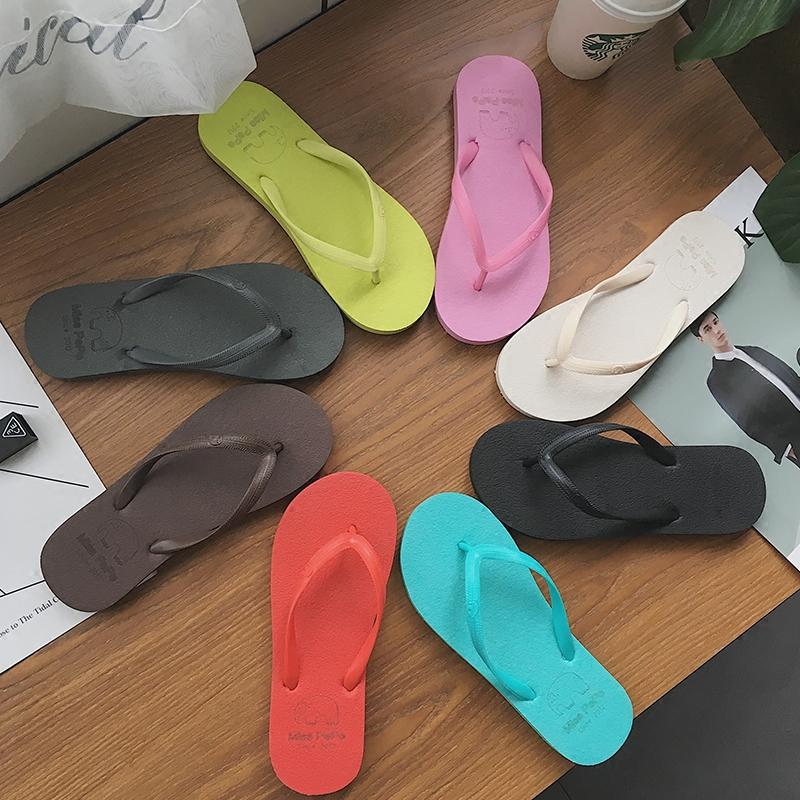 2017 новый взрыв моделей корейский любители шлепанцы обувной женщина лето верхняя одежда квартира сандалии мода мужской и женщины прохладно торможение скольжение