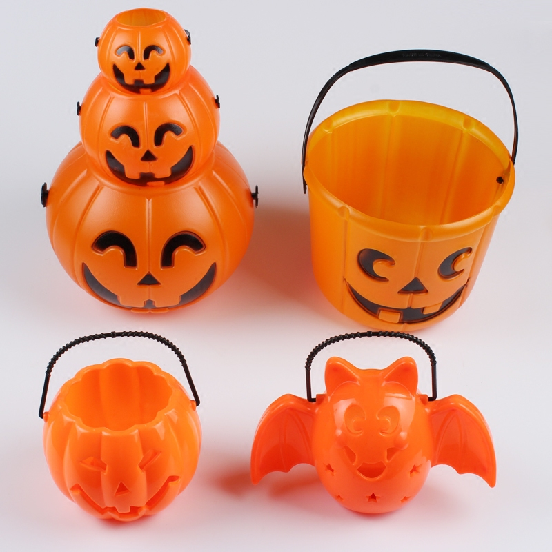 Хэллоуин тыквы тыква ведро бар ночь поле призрак дом декоративный реквизит ребенок конфеты бак портативный тыква ведро