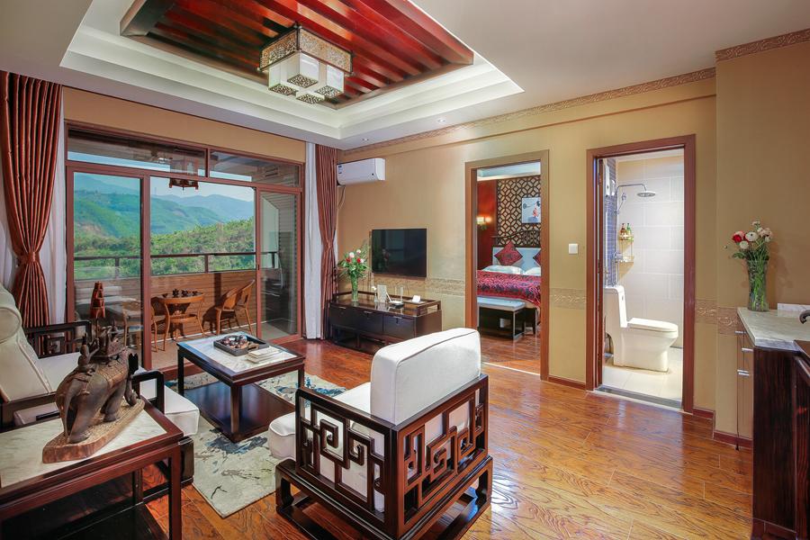 西双版纳悦慢云顶度假酒店温馨中式蜜月套房