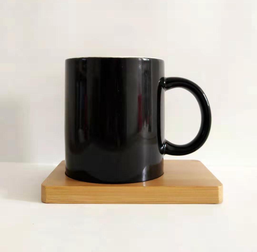 圆形通用马克杯盖子陶瓷玻璃杯盖环保竹盖木盖茶杯盖定制logo刻字图片