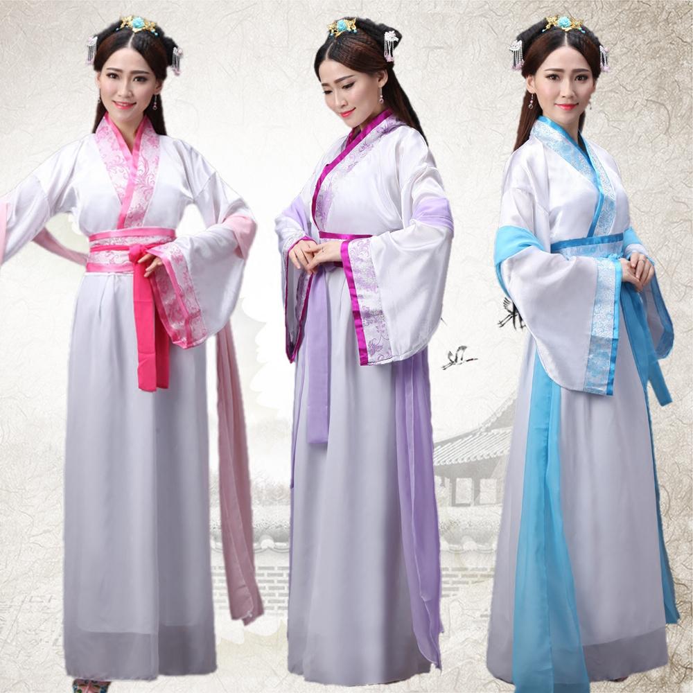 古裝服裝仙女 演出服七仙女 改良漢服女裝唐裝漢服服裝襦裙送披帛