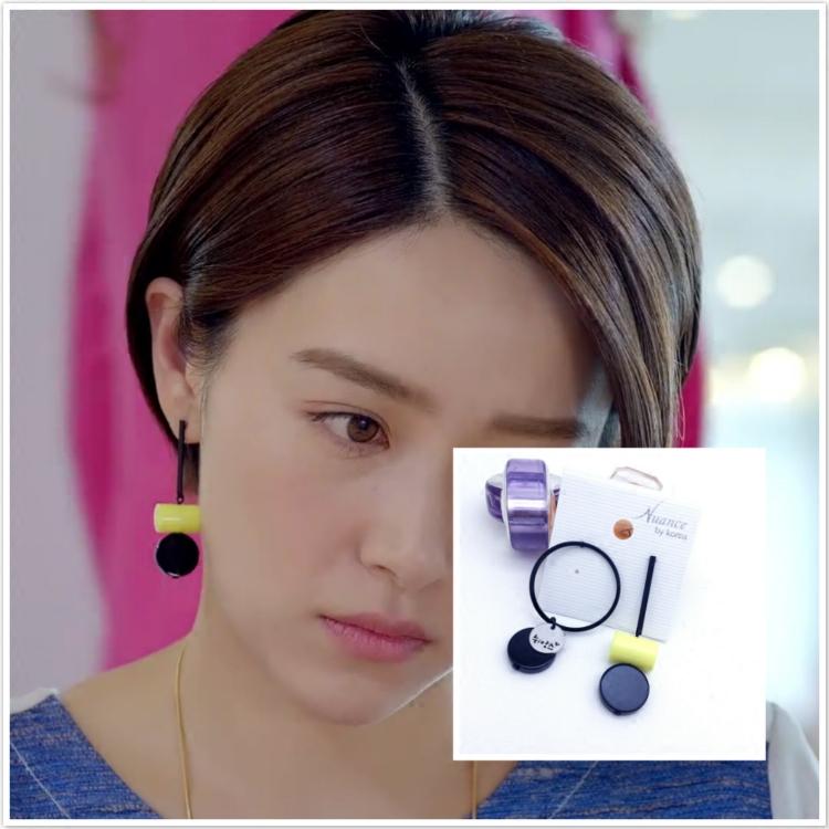 那刻的怦然心动李晨音阚清子同款耳环不对称耳饰圆圈圆片圆柱耳钉