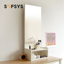 Sofsys hanging wall makeup mirror dressing table bedroom makeup table multifunctional foyer mirror simple full body mirror