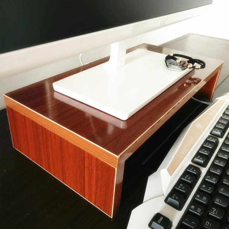 办公台式液晶电脑显示器屏增高架桌面托架置物架收纳木架打印机架