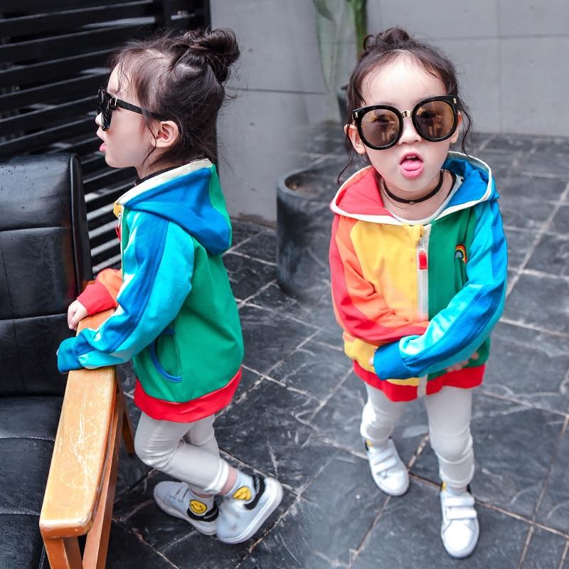 女童外套春秋新款童装2017韩版女宝宝时髦风衣3岁儿童时尚外套潮