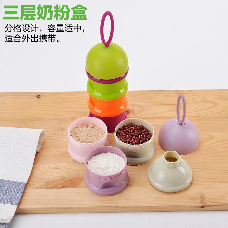 萌贝贝奶粉盒便携婴儿外出装奶粉大容量储存盒外出罐分装盒奶粉格