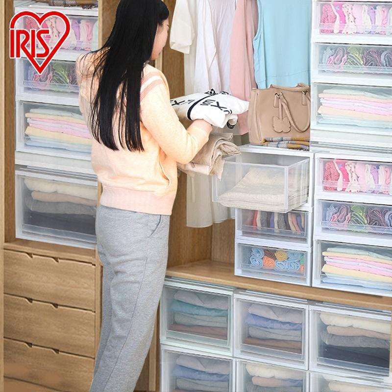 爱丽思抽屉式收纳盒收纳整理箱透明塑料爱丽丝收纳柜内衣物储物柜