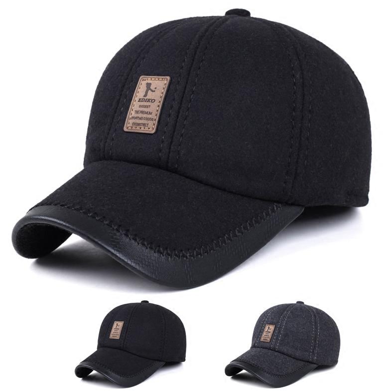 帽子男士冬天戶外 帽中年棒球帽中老年保暖棉秋 老人鴨舌帽