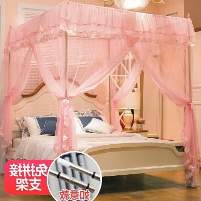 Light Western fixed mosquito net side door cover big bed e nap fine hole pattern hanging fashion baby full bag